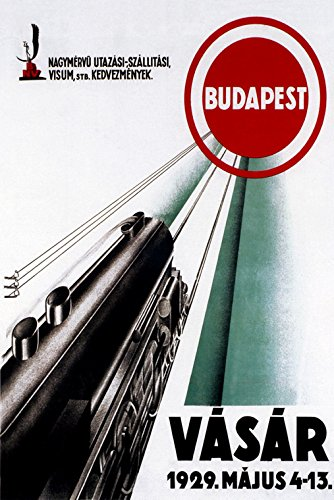 - Vasar 1929 Train to Budapest Hungary Travel Tourism Vintage Poster Repro on PAPER or on CANVAS. We Have Many Sizes Available ! (20