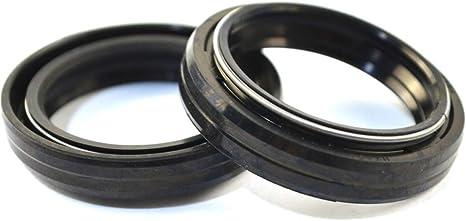 AHL 1 paire Joint spi de fourche 30 x 40.5 x 10.5mm pour Yamaha DT50 1988-1990 Yamaha MX125 1975