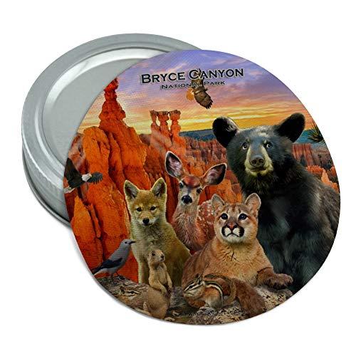 (Bryce Canyon National Park Utah UT Beer Animals Cougar Deer Coyote Round Rubber Non-Slip Jar Gripper Lid Opener)
