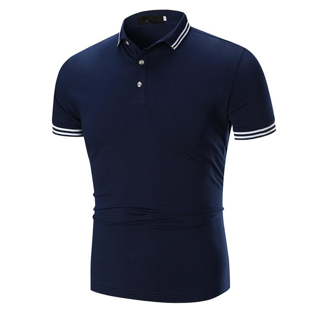 Misaky Men Summer Classice Short Sleeve T-shirt Top Golf Shirt Polo Shirts On Sale by Misaky