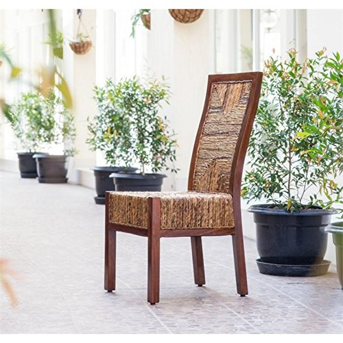 International Caravan SG-3306-1CH-IC Furniture Piece Dallas Abaca Weave Dining Chair by International Caravan