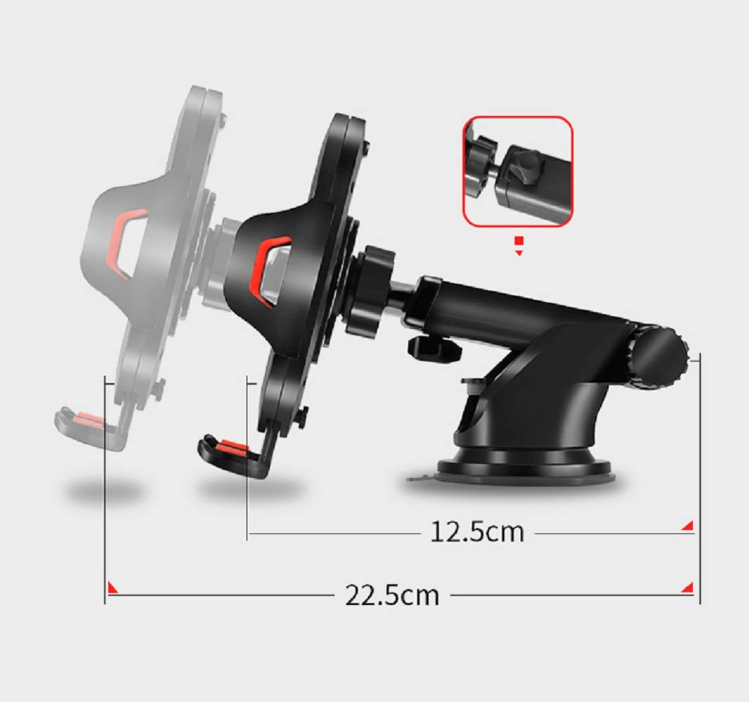 Note 8 LG and Other Smart Phone Universal Car Cell Phone Mount Holder 2 in 1 Windshield and Dashboard with Washable Strong Sticky Gel Pad for iPhone X R Xs Max 8 Plus 7 Samsung Galaxy S9 S8