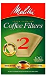 Melitta #622752 100CT #2 BRN Filter, 2 Pack