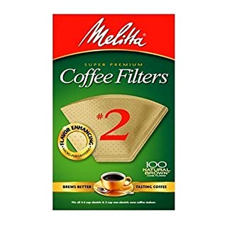Melitta 622752 100CT #2 BRN Filter, 2 Pack, 2, Natural Brown