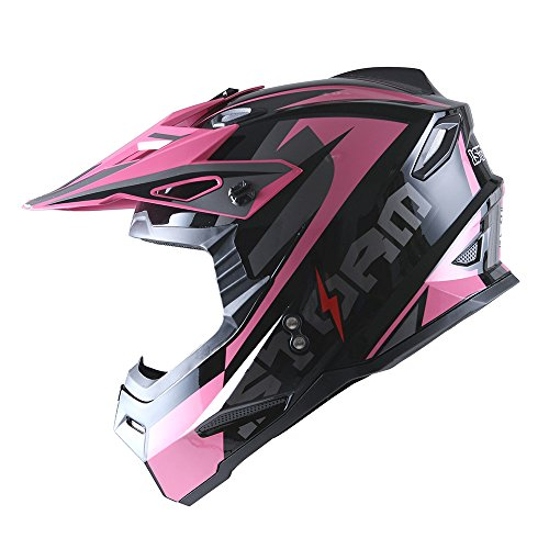 1Storm Adult Motocross Helmet BMX MX ATV Dirt Bike Helmet Racing Style HF801; Sonic (Bmx Atv)
