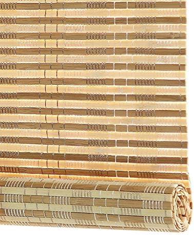 すだれ ブラックアウト竹ローラーシェード/ローラーブラインド、15センチメートルヴァランスとサイドプルと光フィルタリングロールアップブラインド、シェーディング率:80%、幅70分の60/100分の80/120/130センチメートル (Size : 80x200cm)
