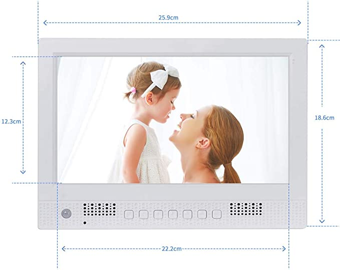 WW/&C Digital Picture Frame 10 inch Motion Sensor and Plays Video and Photo Slideshows Auto On//Off Timer Digital Photo Frame