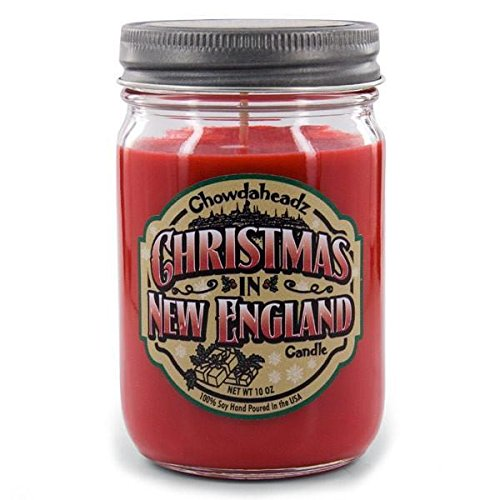Chowdaheadz Christmas In New England Candle 100% Soy, All Natural, Made In The USA
