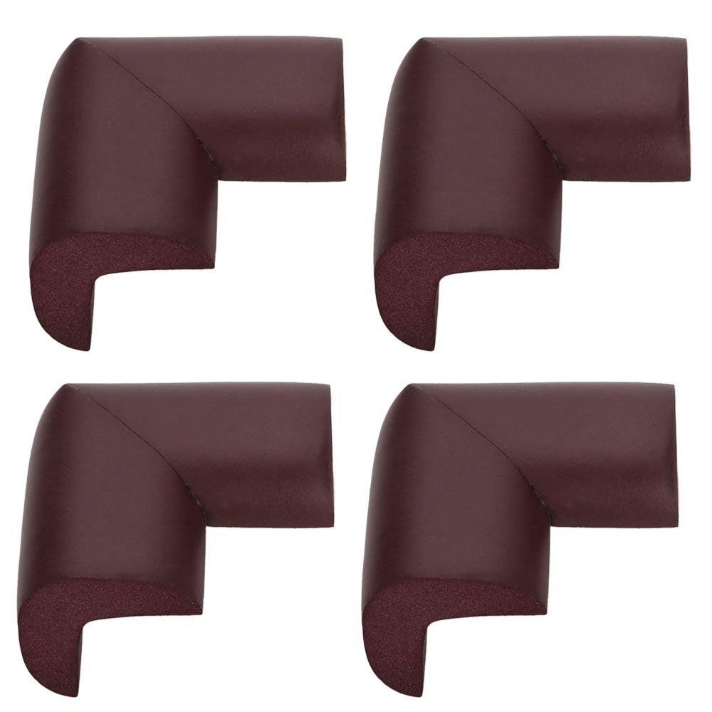 TRIXES 4 Protectores Negros en forma de L para las esquinas de los muebles