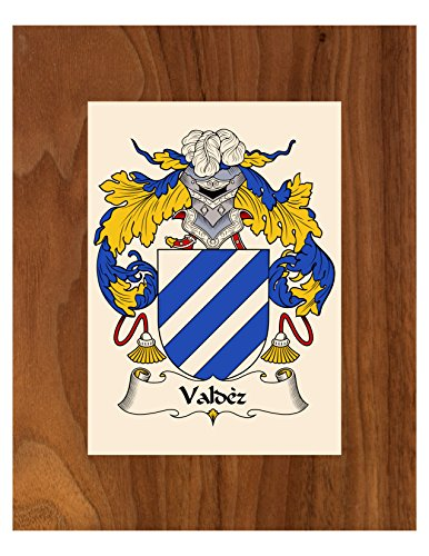 (Carpe Diem Designs Valdez Coat of Arms/Valdez Family Crest 8X10 Photo Plaque, Personalized Gift, Wedding Gift)