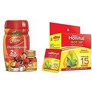 Dabur Chyawanprash – 1 kg with Free Dabur Honey – 50 g and  Honitus Hot Sip(Aurvedic Kaadha Premix) – 30 sachets Combo Pack