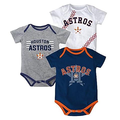 MLB Houston Astros Infant Boys 3 Strikes Body Suite-24 Months (Houston Astros Baby Set)