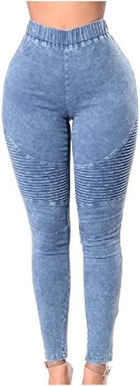 EnergyWD Womens High Waist Stretchy Big Hips Pencil Pants Skinny Jeans Trousers