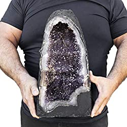 Beverly Oaks Large Amethyst Crystal Cathedral ~ Raw Amethyst Stone Geode ~ 31.59 lb Amazing Amethyst Cluster (AC-56C)