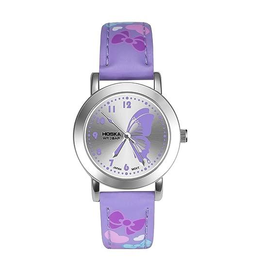 Relojes para NIÑOS Relojes para niños Niños Niños Chicas Deportes Analógico Impermeable Azul Rosa Púrpura Relojes de Pulsera Teenage Junior Cuero Múltiples ...