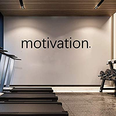 Motivation Wall Sticker - Gym Fitness Wall Decals - Sport Poster Workout Inspirational Art Decor Mural 8 X 50.3 inches: Home & Kitchen