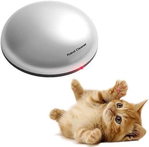 FXQIN Robot de Barrido Divertido 2 en 1 y Juguete Teaser para Gatos, máquina de depilación eléctrica para el hogar inalámbrica para Mascotas, Juguete para Gatos, Aspirador automático con Robot: Amazon.es: Productos