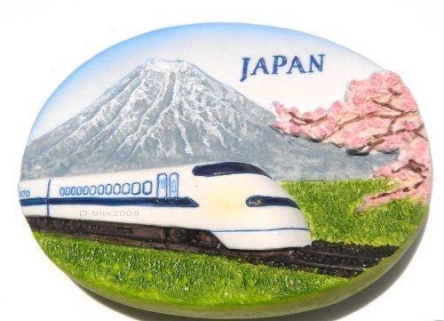 Shinkansen Bullet Train and Mt.fuji Japan,high Quality Resin 3d Fridge Magnet