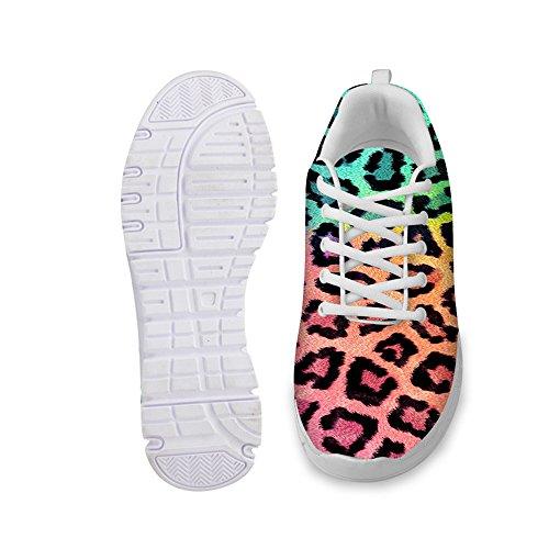 Knuffels Idee Dieren Patroon Mode Womens Lichtgewicht Loopschoenen Colorfly Luipaard