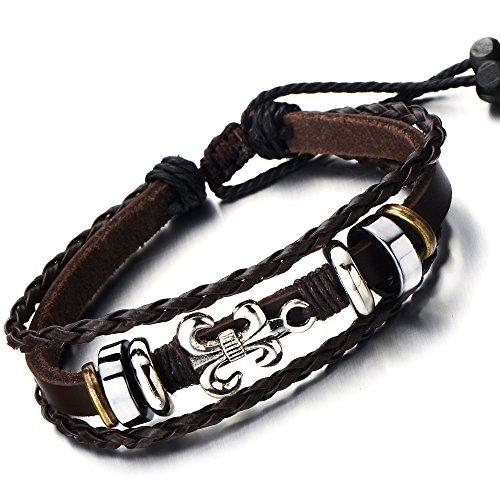 Multi strand Leather Bracelet Wristband Tribal