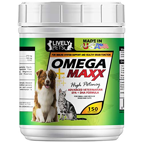 Lively Pets Omega Maxx Soft Chews Small Medium Dogs 150 Count