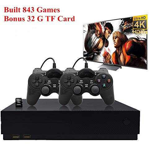 ANBERNIC Retro Game Console, Entertainment System HD Video Game Console 32GB 800 Classic Games 4K HDMI TV Output with 2PCS Joystick for a Great Gifi for Game Player (Black)