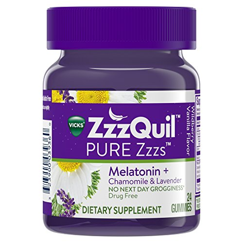 Vicks ZzzQuil PURE Zzzs Melatonin Sleep Aid, 24 Gummies