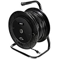 Pyle Heavy Duty Extension Cable Reel - Portable 166 ft Electrical Power Cord Industrial Grade Cat 5 with Male & Female RJ45 Connector Retractable Wire - Outdoor Office & Professional Used PCATCBL150