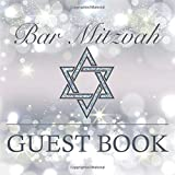 Bar Mitzvah Guest Book: Beautiful Sparkly Elegant Square Guestbook To Celebrate Bar Mitzvah Birthday Party Decorative Gift Book