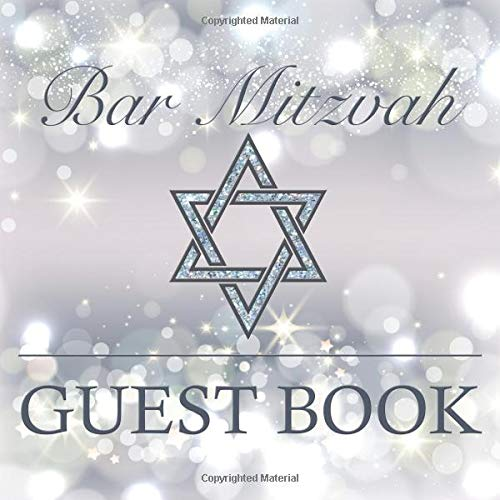 Bar Mitzvah Guest Book: Beautiful Sparkly Elegant Square Guestbook To Celebrate Bar Mitzvah Birthday Party Decorative Gift Book por Dream Journals