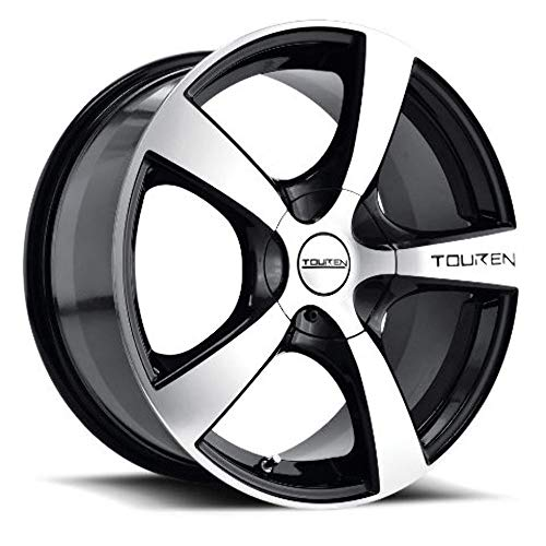 TOUREN TR9 (3190) BLACK/MACHINED FACE/MACHINED LIP: 16x7 Wheel Size; 4-100/4-114.3 Lug Pattern, 67.1mm Bore, 42mm Offset.