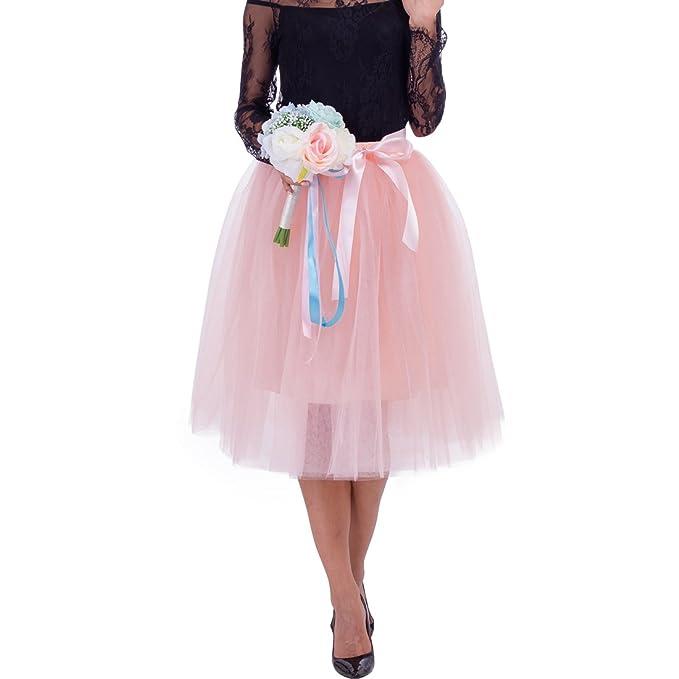 f67ba4b7a Macola Puffy Tutu Skirts, Women Tulle Skirts Multi-Layer Midi Princess Tutu  Skirt for