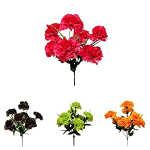 Efavormart 84 Large Artificial Carnations Flowers for Wedding Party Events - 12 Bushes 31