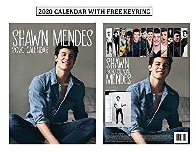 Shawn Mendes Unofficial Calendar 2020 Limited Edition + Shawn Mendes Keychain