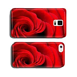 Neck of a beautiful red rose cell phone cover case Samsung S6