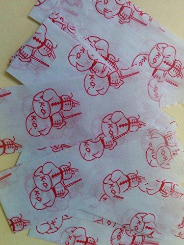 100pcs-600pcs, 100pcs 32mm 20mm//22mm//25mm//27mm//32mm White Vellum Glassine Stamp Wax Paper Envelope Bags