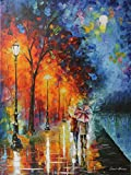 Love By The Lake is an artist-embellished, hand-signed and numbered Giclee on Unstretched Canvas by Leonid Afremov. Leonid issued this special edition of Limited Edition prints at our gallery's request for the Holiday Season. We bought the entire edi...