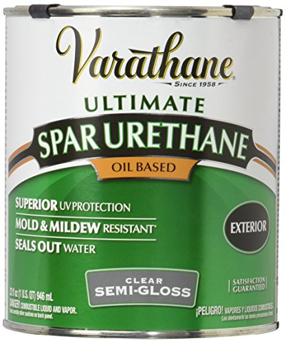 - Rust-Oleum Varathane 9441H 1-Quart Classic Clear Oil Based Outdoor Spar Urethane, Semi-Gloss Finish
