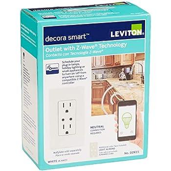 Leviton Dw15a 1bw Decora Smart Wi Fi Plug In Outlet No