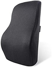 Memory Foam Seat Cushion Breathable 3D Mesh Back Cushion Lumbar Support Pillow for Office, Computer Chair, Car Seats Designed for Back Pain Relief