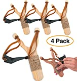 Wooden Slingshots (4 pack) Classic toy for kids