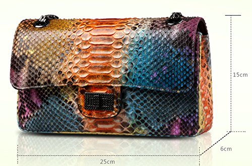 Authentic Python Skin Clutch Bag for Women