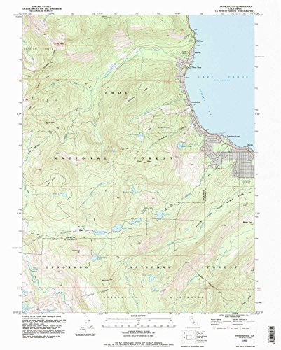 YellowMaps Homewood CA topo map, 1:24000 Scale, 7.5 X 7.5 Minute, Historical, 1992, Updated 1994, 26.8 x 21.5 in - Paper