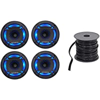 (4) Hifonics TPS-CX65 6.5 600 Watt Marine LED Speakers 4 Boat/ATV/UTV/RZR/Cart