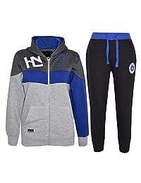Kids Tracksuit Boys Designer HNL Projection Hoodie Bottom Jogging Suit 7-13 Year