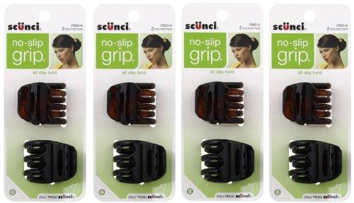 Scunci No-Slip Grip Jaw Clips, 3.5cm, 8 ()