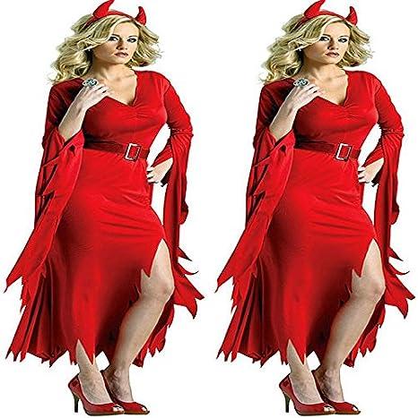 GH e instrucciones para hacer disfraces Halloween rojo long-de ...