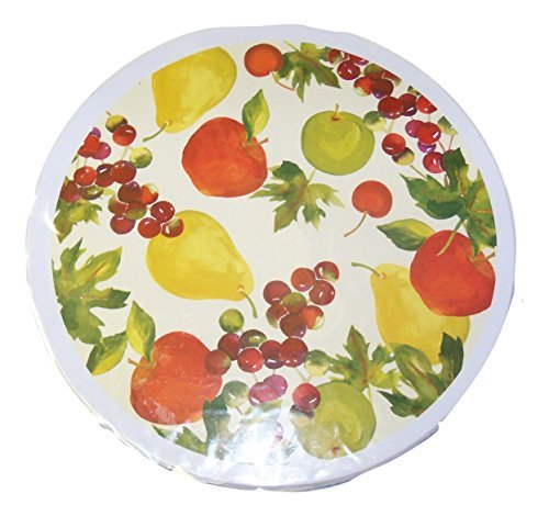 Cooking Concepts Set of 4 Burner Covers ~ Fruit Medley (Apples, Pears, Grapes, Cherries) ()
