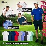 Three Sixty Six Collarless Golf Shirts for Men