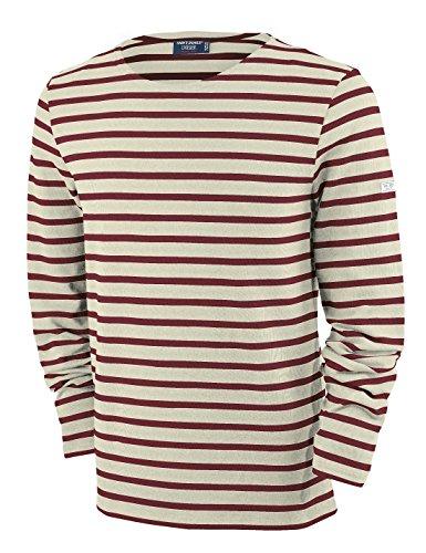 Saint James Meridien - Streifenshirt - Bretagne-Shirts Ecru/Persan